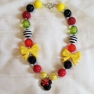 New Minnie Mouse Big Bead Girls Necklace